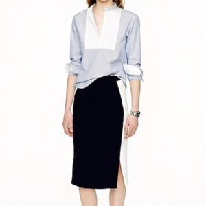 J. Crew | Soft Pencil Skirt Colorblock 00P